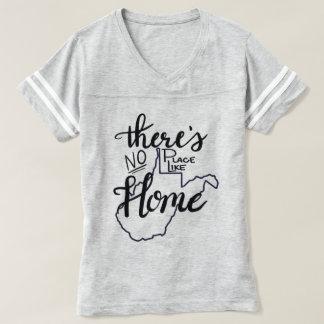 Camiseta West Virginia - nenhum lugar gosta em casa
