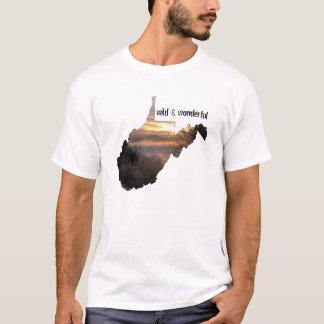Camiseta West Virginia, selvagem & maravilhoso