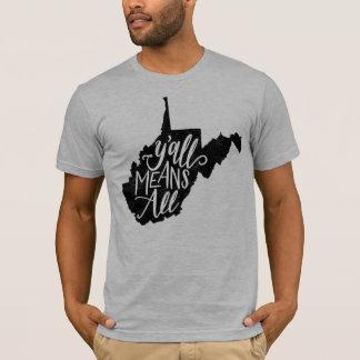 """Camiseta West Virginia """"você significa todo o"""" t-shirt da"""