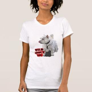 Camiseta Westie branco Terrier