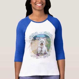Camiseta Westie no litoral