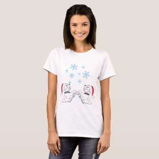 Camiseta Westies e flocos de neve