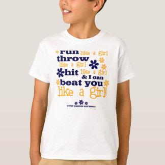 Camiseta WH gostam de um softball da menina