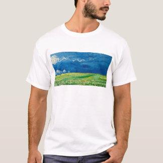 Camiseta Wheatfield sob Thunderclouds por Vincent van Gogh