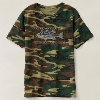 Camiseta Wheatgrass CONTRA o T selvagem de Camo