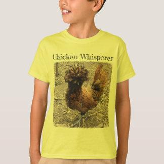 Camiseta Whisperer da galinha com a galinha polonesa