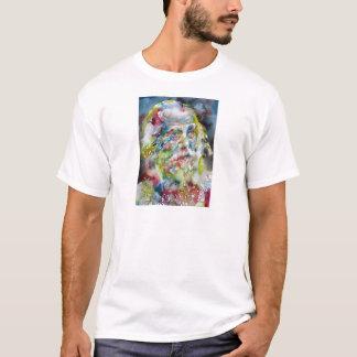 Camiseta whitman do walt - retrato da aguarela