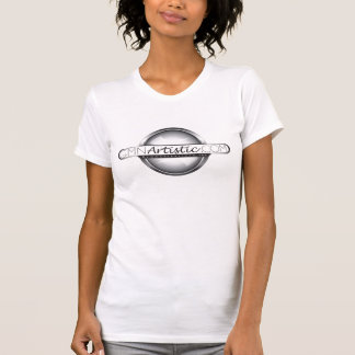 Camiseta WifeBeater branco ARTÍSTICO das senhoras de GMN