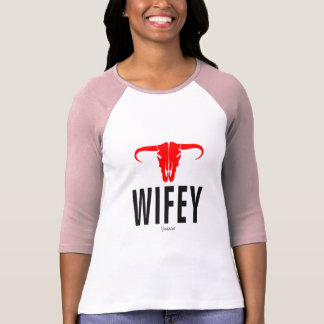 Camiseta Wifey & Bull por VIMAGO