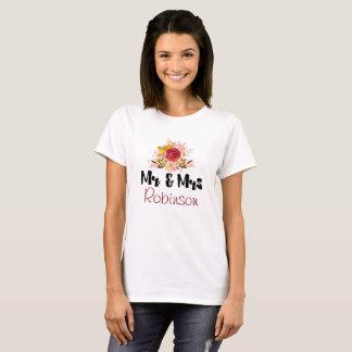 Camiseta Wildflowers florais bonito no Sr. e na Sra. da