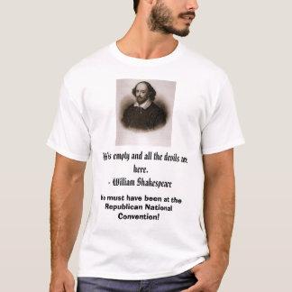 Camiseta William Shakespeare, inferno é vazio e todos os…