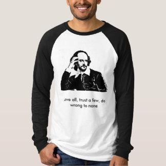 Camiseta William Shakespeare - t-shirt longo da luva
