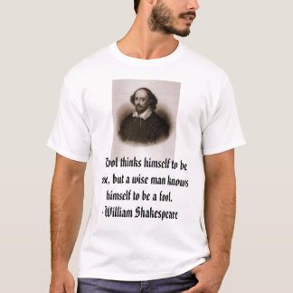 Camiseta William Shakespeare, tolo de A pensa-se a b…