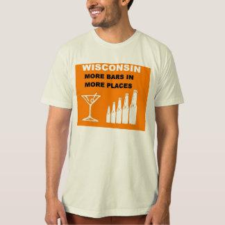 Camiseta Wisconsin mais bares em mais lugares