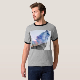 Camiseta Wolf in the night sky