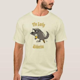 Camiseta Wolverine afortunado T básico