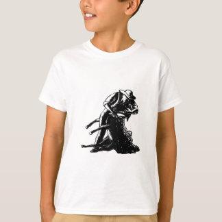 Camiseta Woodcut de corte dos carneiros do tosquiador