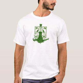Camiseta Woodcut de Wytch - verde no preto ou branco