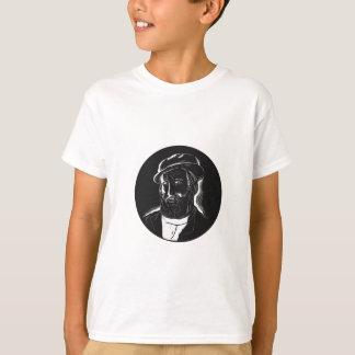 Camiseta Woodcut do Conquistador de Hernan Cortes