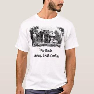 Camiseta woodlands2, florestas Bamberga, South Carolina