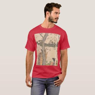 Camiseta Woodprint japonês