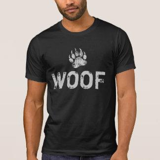 Camiseta WOOF afligido da pata de urso do urso orgulho