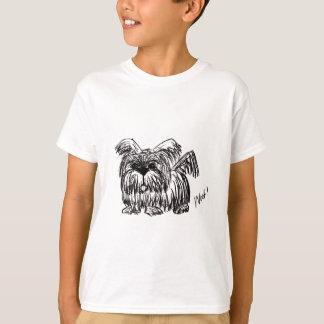 Camiseta Woof um cão do espanador de poeira