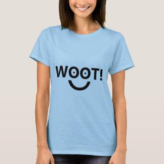"Camiseta ""WOOT!"" (A parte superior das mulheres)"
