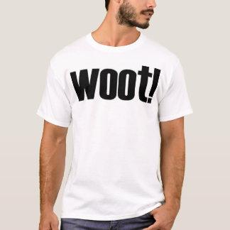 Camiseta woot! Com da definição parte traseira sobre