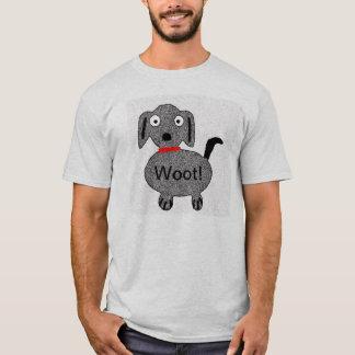 Camiseta Woot! O Tshirt dos homens do filhote de cachorro
