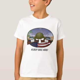 Camiseta WW2 Kilroy caçoa o t-shirt