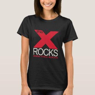 Camiseta X preto básico das senhoras