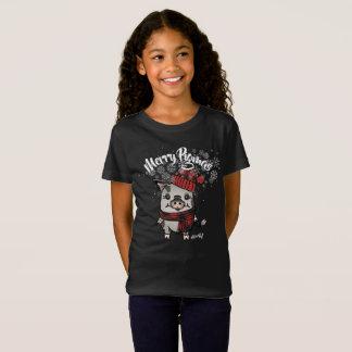Camiseta Xadrez alegre do búfalo de Pigmas