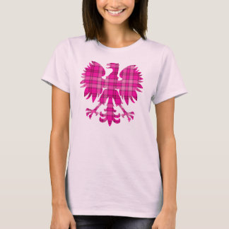 Camiseta Xadrez cor-de-rosa polonesa Eagle