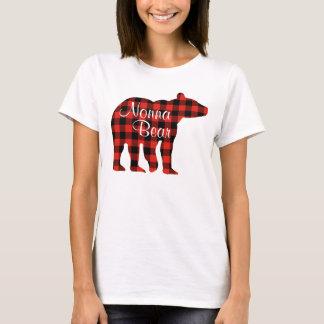 Camiseta Xadrez do urso de Nonna