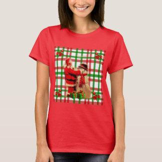 Camiseta Xadrez feia do Natal com o t-shirt do vermelho do