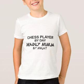 Camiseta Xadrez Ninja mortal em a noite