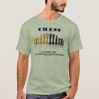 Camiseta Xadrez um jogo da execução estratégica