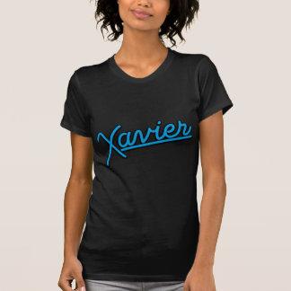 Camiseta Xavier em ciano