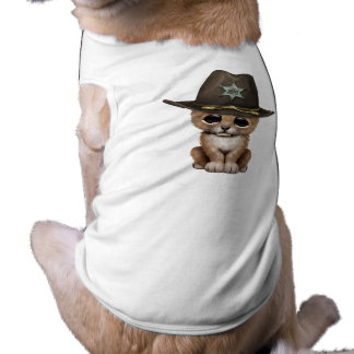 Camiseta Xerife bonito de Cub de leão do bebê