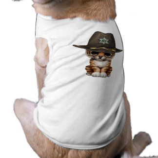Camiseta Xerife bonito de Cub de tigre do bebê