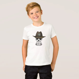 Camiseta Xerife bonito de Cub de urso polar do bebê