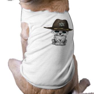 Camiseta Xerife bonito de Cub do leopardo de neve do bebê