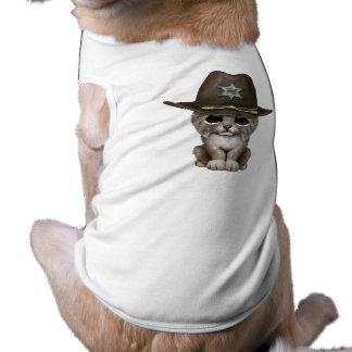Camiseta Xerife bonito de Cub do lince do bebê