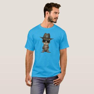 Camiseta Xerife bonito do leão de mar do bebê