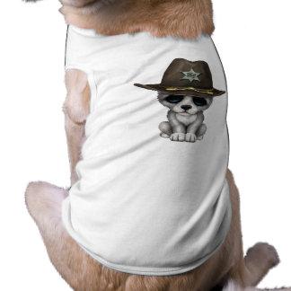 Camiseta Xerife bonito do lobo do bebê