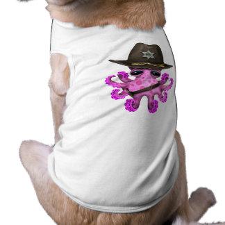 Camiseta Xerife cor-de-rosa bonito do polvo do bebê