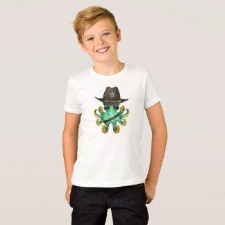Camiseta Xerife verde bonito do polvo do bebê