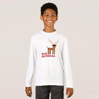 Camiseta Xmas cheirado vermelho da rena de Rudolph da vida
