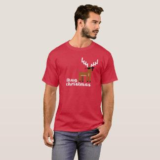 Camiseta Xmas da rena do pixel do Natal da vida do vândalo